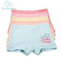 Zoe Saldana Girl's Underwear 2017 New 5Pcs/Lot Kids Cartoon Cat Pattern Printed Panties Cotton Boxer Soft Baby Girl Underpants