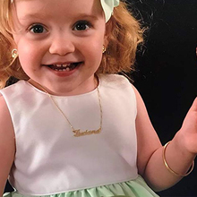 Personalized Baby Name necklaces & pendants Girl Boy Necklace Custom name necklace Gifs For women Child Maxi Colar