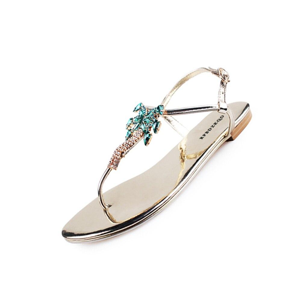 Rhinestone Embellished Jewel Shoes Sandals Leisure Fashion Bohemia ... be75534ba346