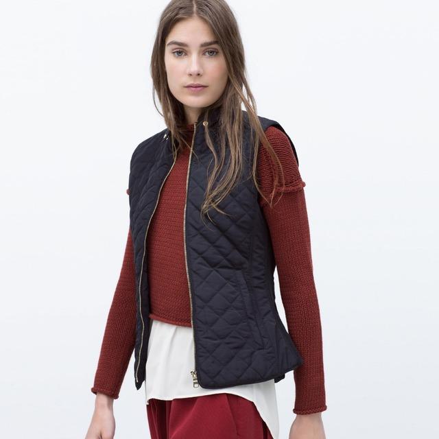TIC-TEC mujeres otoño invierno de cuello alto delgado engrosamiento de la moda prendas de Vestir Exteriores caliente Abrigos Chaleco P2722