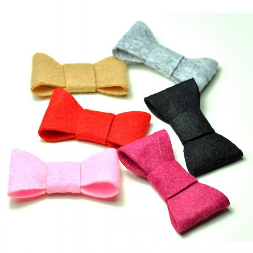 10pcs/lot 2 inch 6colors Hair clips Cute Felt Bows For Kids Boutique Hair Bows Lovely Handmade Girls' Hair Accessories Wholesale 40pcs lot 30 colors 4inch hair bows kids girls hair clips boutique bows hairpins for kids children kids girl hair accessories