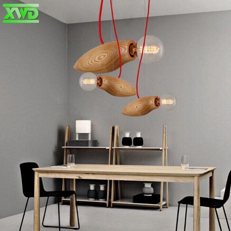 Müasir Taxta Kənd Dəsti Asılı lampa Qəhvəxana / Yemək Zalı / - Daxili işıqlandırma - Fotoqrafiya 5