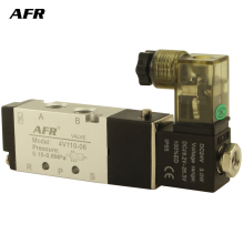 купить Air Solenoid Valve 5 Way Port 2 Position Gas Pneumatic Electric Magnetic Valve 12V 24V 220V 4V110-06 port 1/8