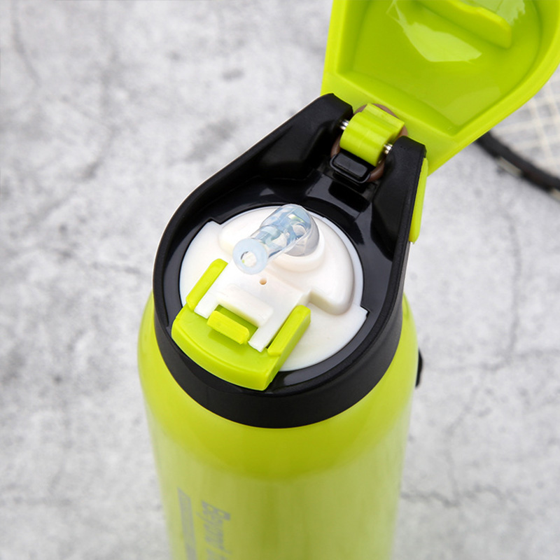 Ruida 500ML Stainless steel Vacuum insulation straw water bottle Portable bicycle Sports Straw flask bottle Sport Thermos Travel