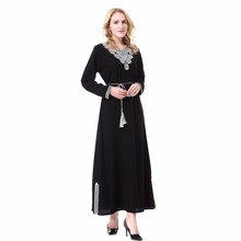 Islamic Women Dress Clothing Robe Kaftan Fashion Embroidery (3 colors)