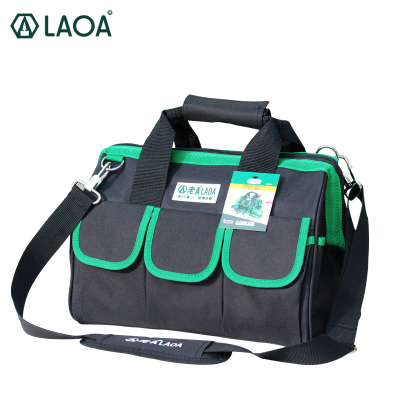 LAOA 600D Foldable Tool Bag Shoulder Bag Handbag Tool Organizer Storage Bag water proof bags storage for Electricians Tools ballistic nylon tools bag for tools storage 280x245x180mm