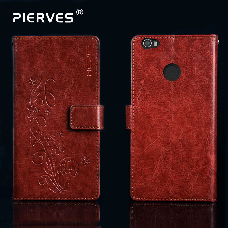 Pierves G0 Luxury Flip PU Leather Wallet Cover Phone Case For Senseit W289