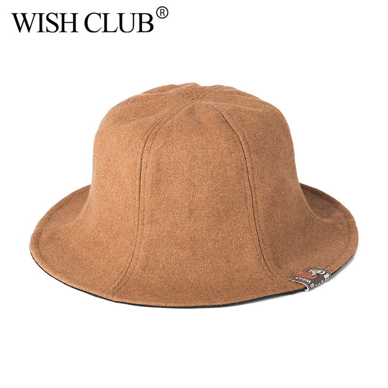 124b2a7fffe WISH CLUB Women Hats Fashion Fedoras Warm Ladies Fedora Bucket Cotton Sweet  Caps Classic Retro Wide Brim Hat 2019 Trendy Hats