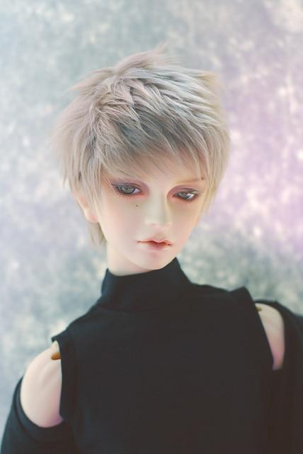 Bjd doll wigs golden gray  short hair fur wig  1/6 1/4 1/3 straight