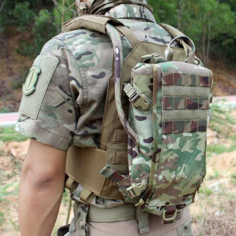Hunting Airsoft Tactical Outdoor Molle Hydration Carrier Armor Water Bag Backpack Paintball Quick-opening Equipment
