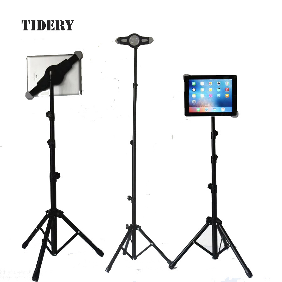 Tripod Floor Stand Tablet Tripod Holder For Ipad Kindle Fire Samsung Lenovo Xiaomi 7 - 11 Inch Universal Mount tablet holder free shipping 6mbi100j 060b 6mbi100j module 1pcs lot