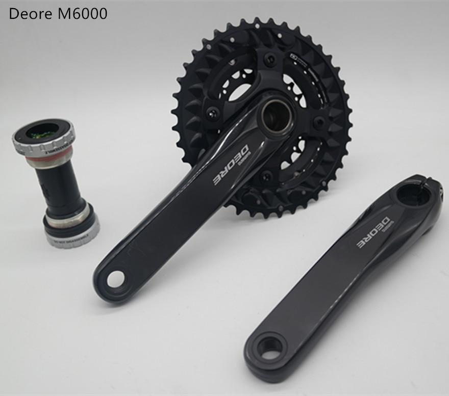 shimano Deore FC M6000 crankset bicycle mtb nountain bike 2x10 3x10 speed 20s 30s crankset 175