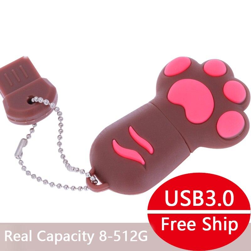 Cute Cats Claw 3.0 USB Flash Drive 64gb USB Stick Pendrive U Disk Flash Memory Storage Pen Drive 32gb 16gb 8gb 128gb 512gb 1/2tb