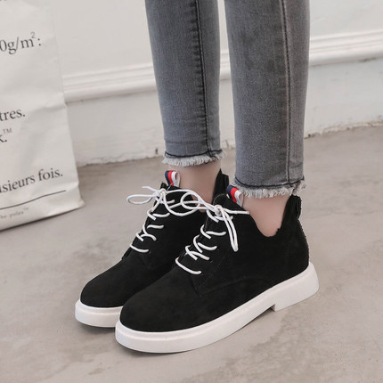 New single casual high-top round ankle boots 55