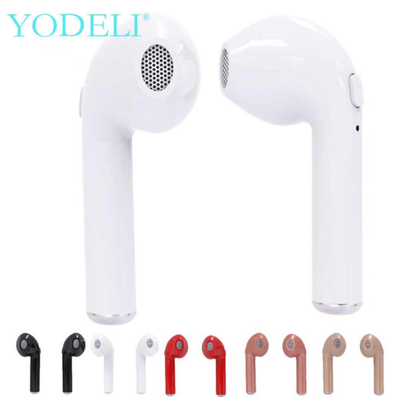 YODELI Wireless Airpods Earphone Mini i7s TWS Twins Bluetooth Headphone Stereo Headset Handsfree For iPhone Xiaomi Samsung Phone