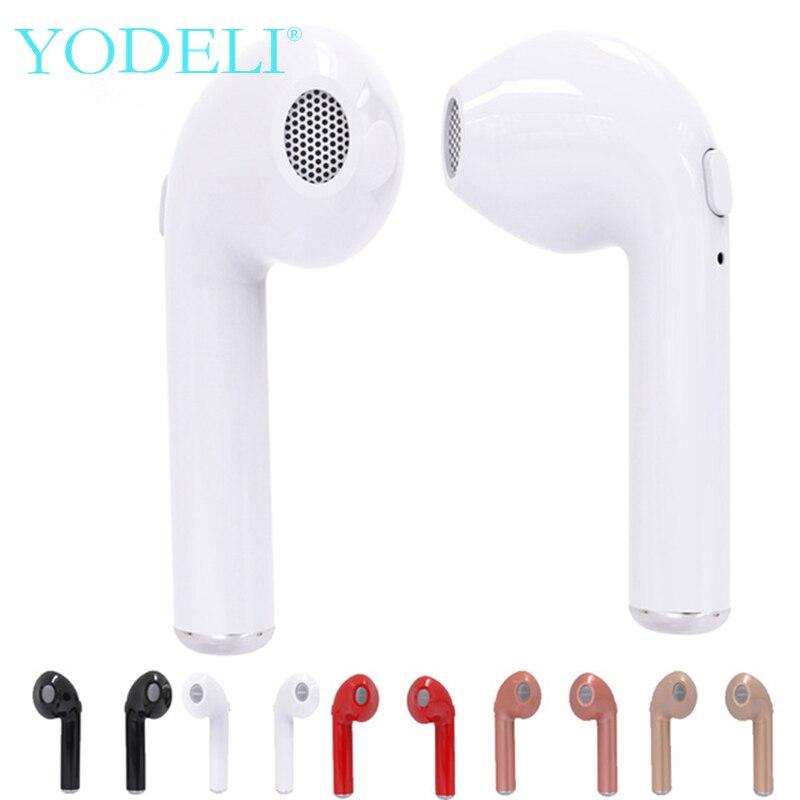 YODELI Wireless Airpods Earphone Mini i7s TWS Twins Bluetooth Headphone Stereo Headset Handsfree For iPhone Xiaomi Samsung Phone