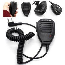 Walkie Talkie Handheld Speaker Mic, Shoulder Microphone with Clip Accessories for BaoFeng Two Way Radio