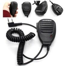 Walkie talkie com microfone, altofalante portátil, ombro, acessórios com clipe, para baofeng, rádio de duas vias