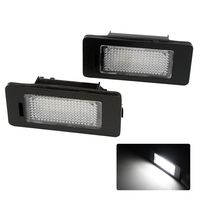 2X Car LED 24SMD License Plate Light Number Plate Lamp 12V For Skoda Fabia Superb Yeti