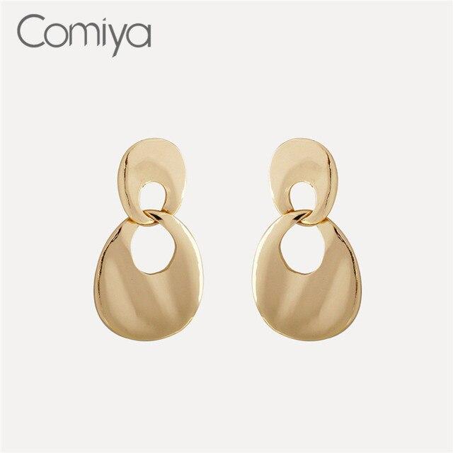 a9934877ae5e Comiya Brand Long Earrings Water Drop Shape Gold Color Zinc Alloy Vintage  Accessories Dangle Earring Pendientes