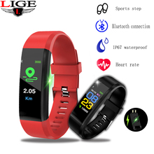 лучшая цена LIGE 2019 New Smart band Fitness tracker waterproof Smart Watch Men women Sport Bracelet bluetooth wristband Heart Rate monitor