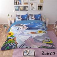 Mxdfafa Anime Sailor Moon Bed Sack Set cartoon bedding sets Luxury Duvet Cover 3pcs Set Include 1 Duvet Cover and 2 Pillowcases
