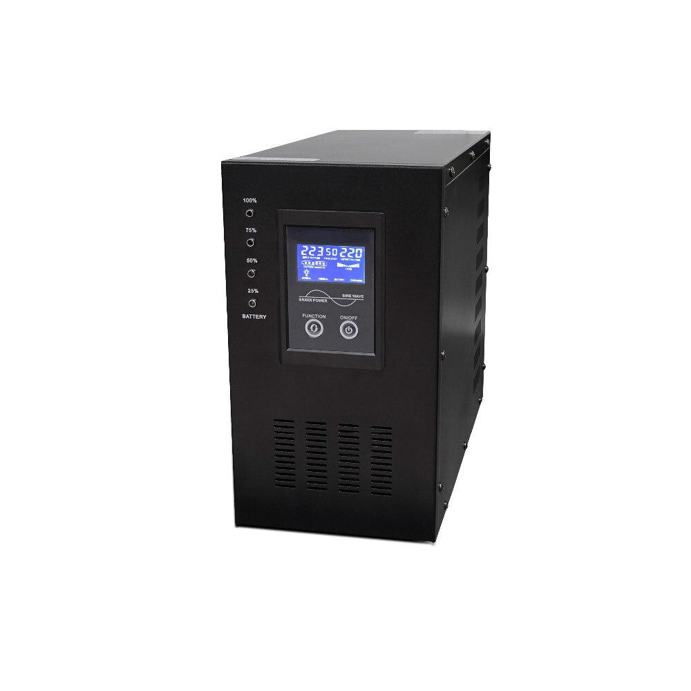 Single phase power supply 24V home line interactive ups inverter 3KVA 3000VA 2kva pure sine wave line interactive ups 1kva 3kva 5kva 6kva ups power supply 110v 220v 240v