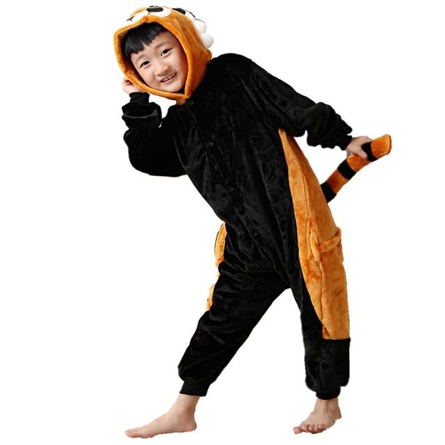 Aliexpress.com : Buy DOUBCHOW Kids Black Raccoon Onesies Costume ...