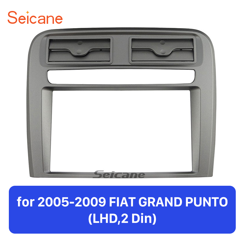 Seicane 2 DIN Car Radio Fascia Audio Frame For 2005-2009 FIAT GRAND PUNTO LHD Installation kit Dash Bezel Trim Kit Cover Trim 2 din car dvd frame dashboard kits front bezel radio frame adaper dvd cover dash trim kit for kia rio 5 door rhd double din