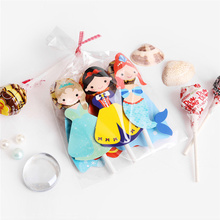 54Pc/lot Princess Snow White Mermaid Cartoon Candy Lollipop Decor Card for Kids Birthday Party Suppl