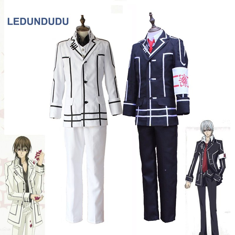 Anime Vampire Knight Zero Kiryu Black Day Class Uniform Kuran Kaname Men Fancy Party Outfits Cosplay Costumes for Halloween