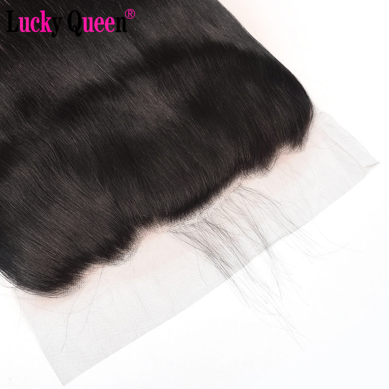 Brazilian Straight Pre Plucked Ear to Ear 13x6 Lace Frontal Closure With Baby Hair Free Part 10-20inch Remy 100% Human Hair