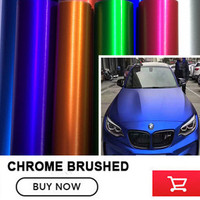 The Newest Red Silver Blue Metallic Brushed Aluminum Vinyl Car Wrap Film Car Sticker Auto Foil