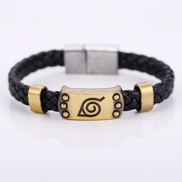 Naruto Alloy and Leather Bracelet Naruto