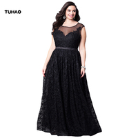 TUHAO sexy black Elegant large size Maxi Long Dress 5XL 3XL 4XL Woman Dresses runway Party Vestido Femme Plus Size clothing XX01