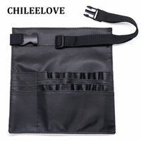 CHILEELOVE 20 Hole Black Makeup Brushes Pouch Makeup Bag Waist Brush Belt Strap Professional Protable Make