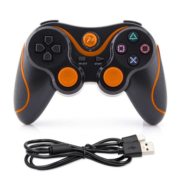 Bluetooth Gamepad Controllers for PlayStation 3 PS3 PS 3 Wireless Controllers Joystick USB Charge Cable Double Motor Vibration