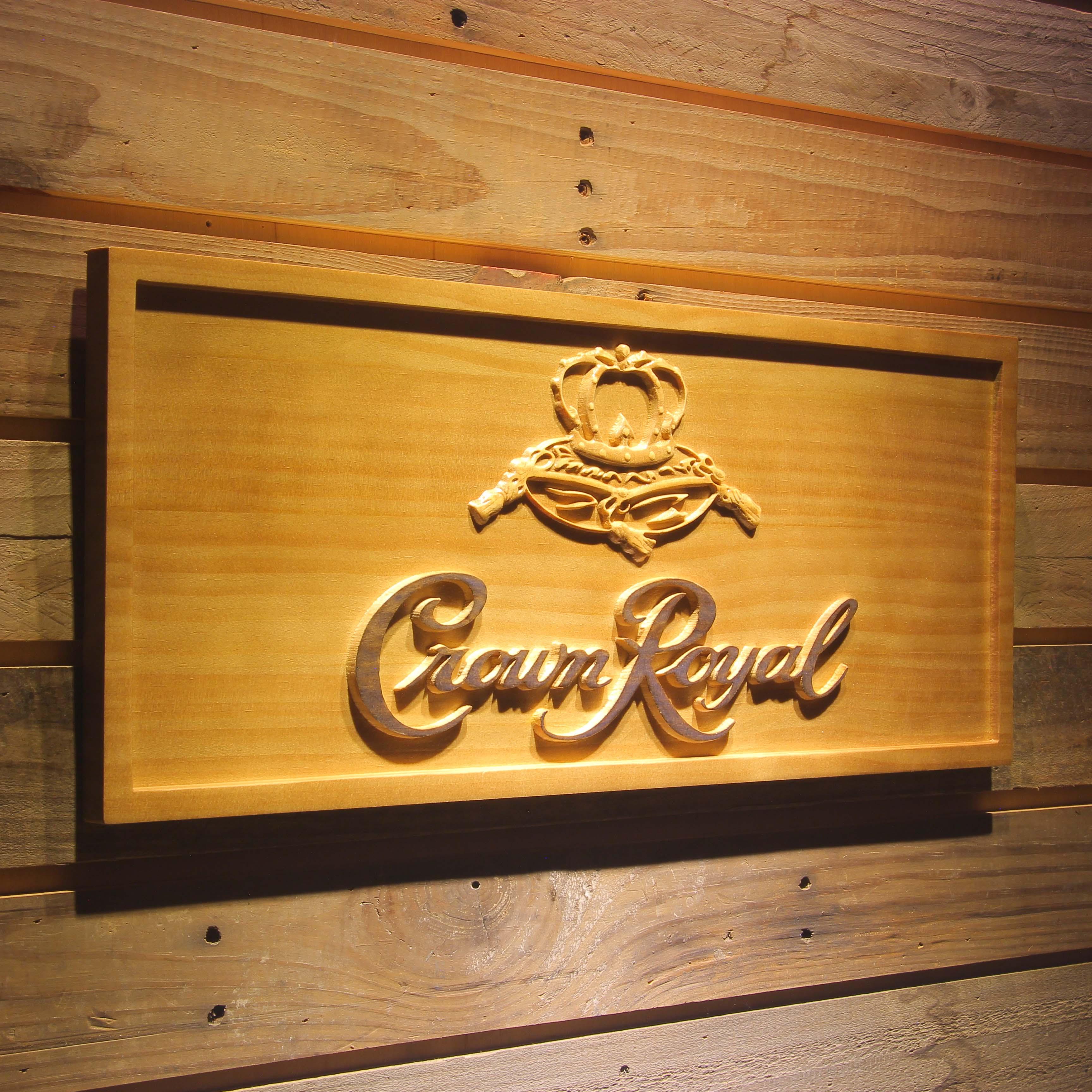 Crown Royal Bier 3D Holz Zeichen-in Tafeln & Schilder aus Heim und Garten bei AliExpress - 11.11_Doppel-11Tag der Singles 1