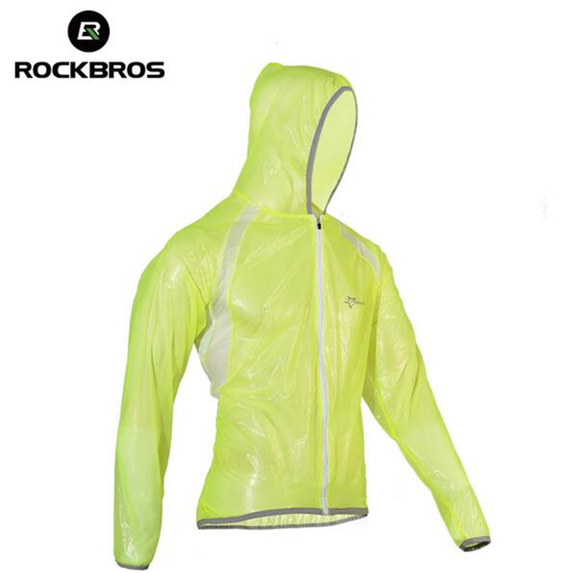 Rockbros Cycling Waterproof Jacket Windproof Windproof TPU Raincoat Bike Bicycle Equipment Clothes