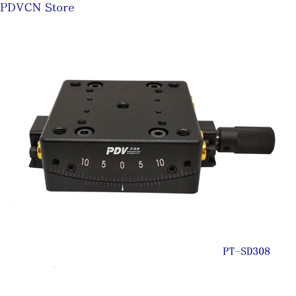 PT-SD308 Precise Manual Goniometer Stage, Low Profile Goniometer Platform, Optical Sliding Table, Rotation Range: +/-10 degree