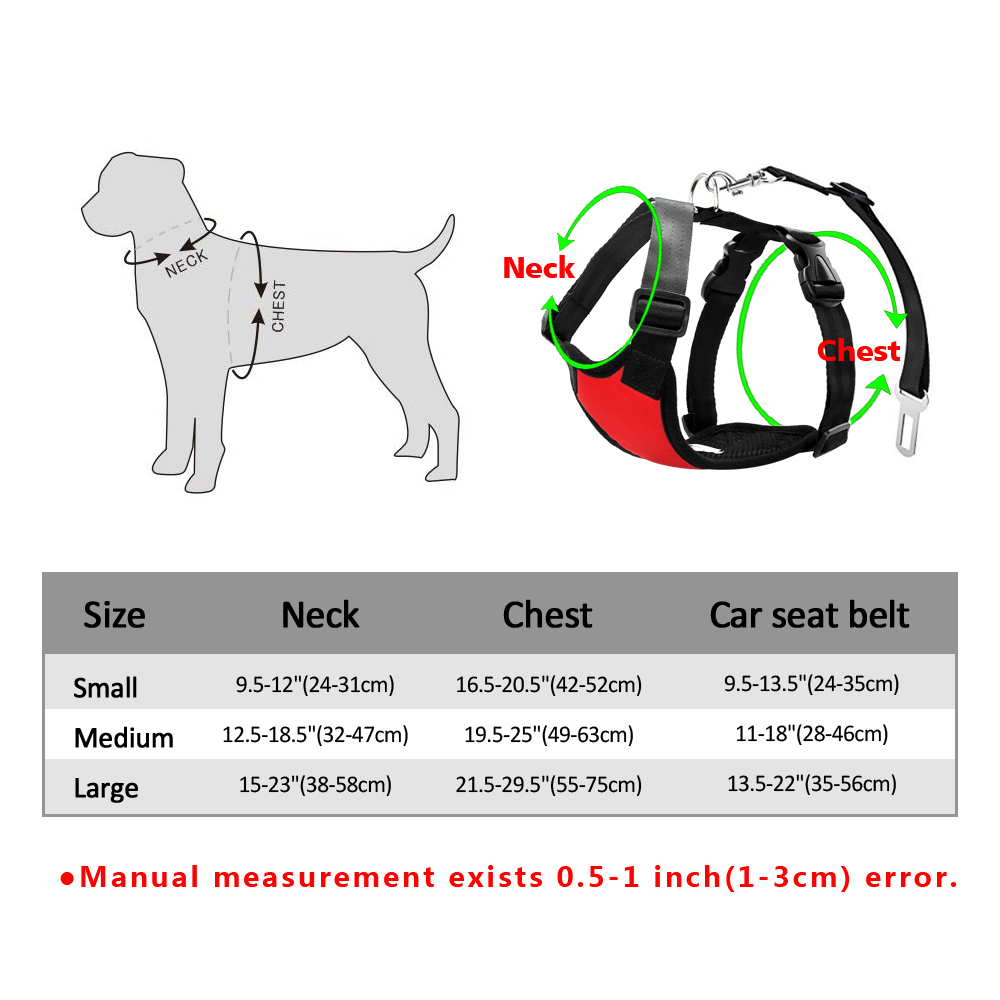 Nylon Dog Car Seat Belt Mesh Pet Dogs Safety Car Harness Soft Padded Vest Vehicle Seatbelt Lead Leash For Medium Large 3