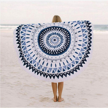 Summer Big Bath towel Microfiber Printed Round Beach Towels Circle Beach Towel Decoration Tapestry Thick Towels Drop Shipping circle