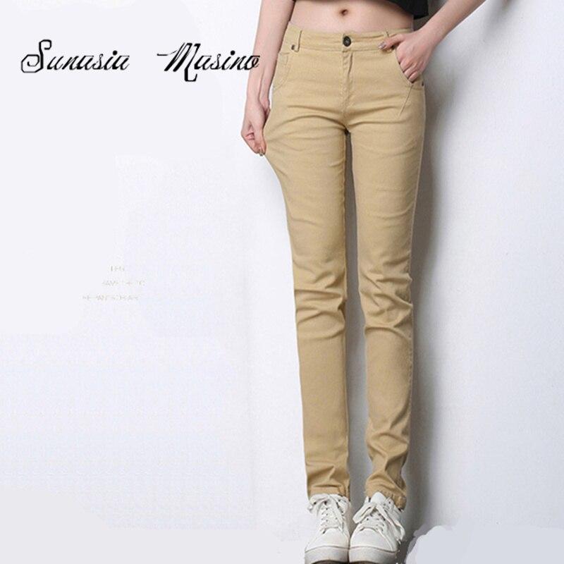 Dámské kalhoty Kalhoty Jeans Kalhoty Jaro s nízkým pasem Ženy Dámské kalhoty 2018 Jeans Fashion OL Kalhoty