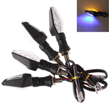 New 4pcs 12V Universal Motorcycle LED Turn Signal Light Indicators Amber Blinker Light Flashers Lighting Motorcycle Accessories