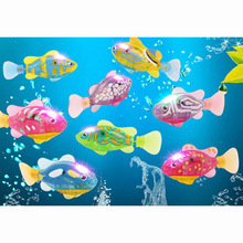 1Pcs New Baby toys Swimming led Light Fish with screwdriver Activated Battery Powered Robot For Bathing send by random Arpa