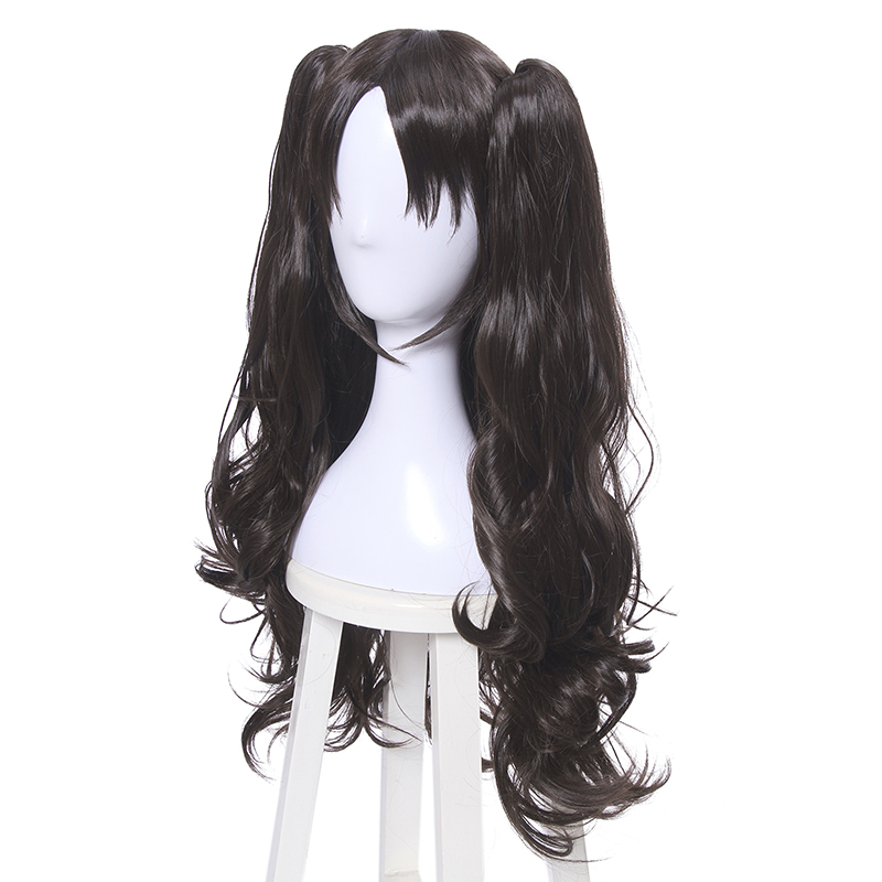 Image 3 - L email wig Game Fate/Stay Night Rin Tohsaka Cosplay Wigs Long Wavy Heat Resistant Synthetic Hair Perucas Cosplay Wig-in Synthetic None-Lace  Wigs from Hair Extensions & Wigs