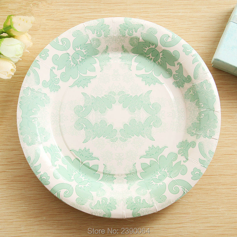 ... 20151216-set c plate & Tiffany Blue Party Paper Tableware Products 20 Sets Wedding Table ...