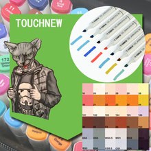 Touchnew  Double-Ended Brush Markers 12 Manga Colors Skin Tones Sketch Graphic Design with Pen