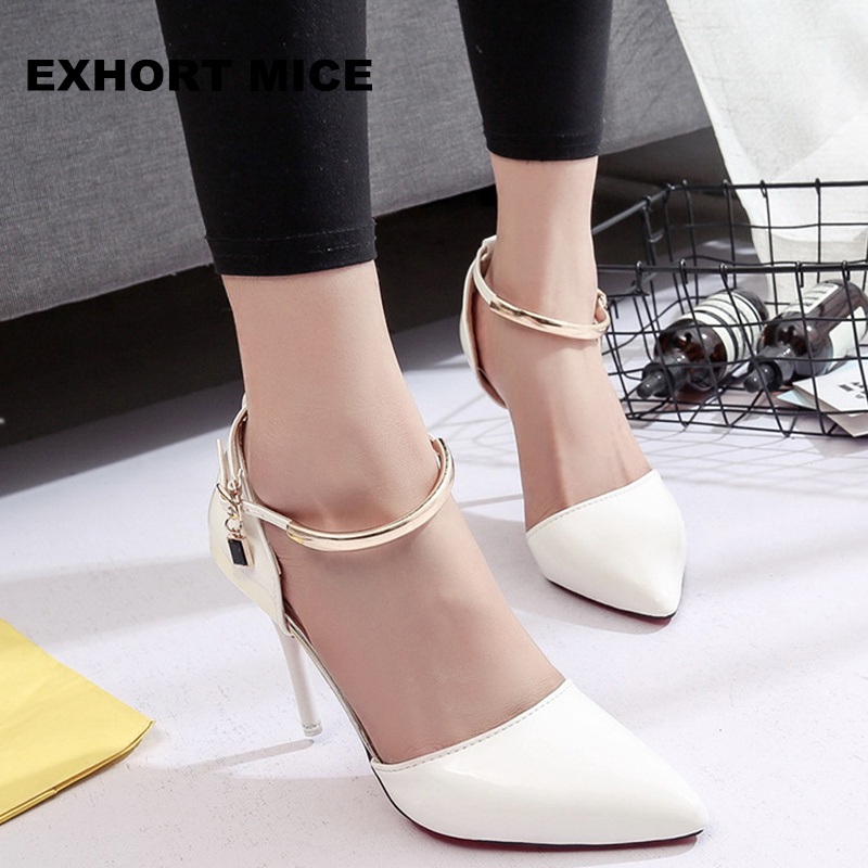 2017 Women Shoes Pointed Toe Pumps Patent Leather Dress Shoes High Heels Boat Shoes Wedding Shoes Zapatos Mujer 9cm/6cm 2017 new spring summer shoes for women high heeled wedding pointed toe fashion women s pumps ladies zapatos mujer high heels 9cm