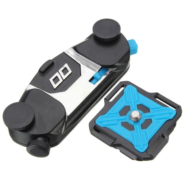 New Universal Adaptador de Clipe de Cinto de Alumínio Tripé Para GoPro hero 4 3 + 3 2 para xiaomi yi dslr slr vídeo câmeras